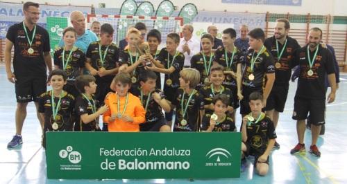 Los chicos del BM Mijas y las chicas del BM Roquetas se coronan en Almuñécar en el Andaluz Alevín