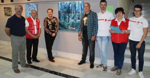 Luis Contreras presenta una muestra pictórica solidaria con la Cruz Roja