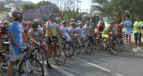 Marcha en solidaridad con los ciclistas fallecidos en accidentes de tráfico