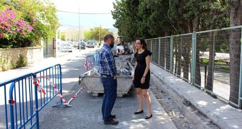 Obras de mejora del acerado en la calle Cuartel de Simancas de Motril