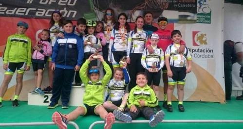 Siete podios para el ciclismo sexitano en el Trofeo Federación Andaluza en Lucena