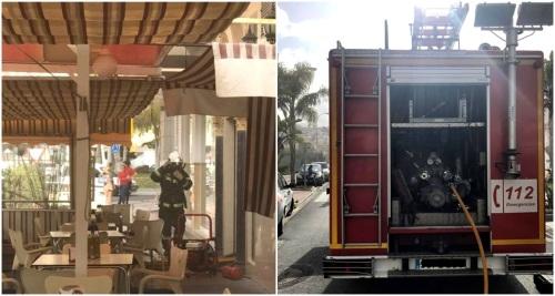 Una freidora de churros origen del incendio en la cafetería La Italiana