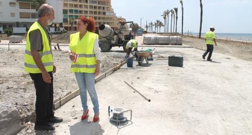 Dan comienzo las obras para finalizar la remodelación del paseo marítimo