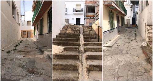 El PSOE critica el pésimo estado de la calle Acacias de La Herradura