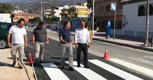 Finalizada la primera fase de las obras de renovación de la red hidráulica en el Paseo de La Herradura