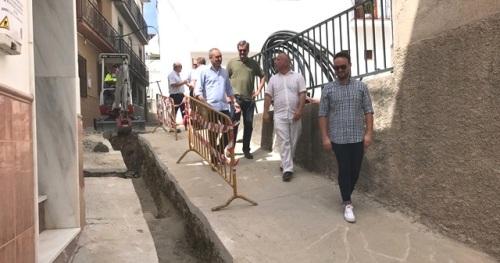 Sergio García visita las obras de mejoras en las infraestructuras hidráulicas de Molvízar, Ítrabo y Lentegí