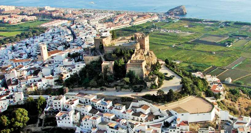 Vista casco histórico de Salobreña