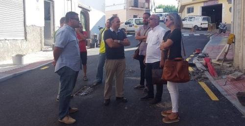 Continúan a buen ritmo las obras en los barrios de San Sebastián y La Paloma