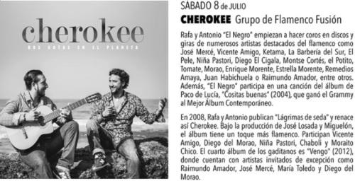 El grupo de flamenco fusión Cherokee inaugura este sábado la novena edición de los Patios Flamencos de Motril