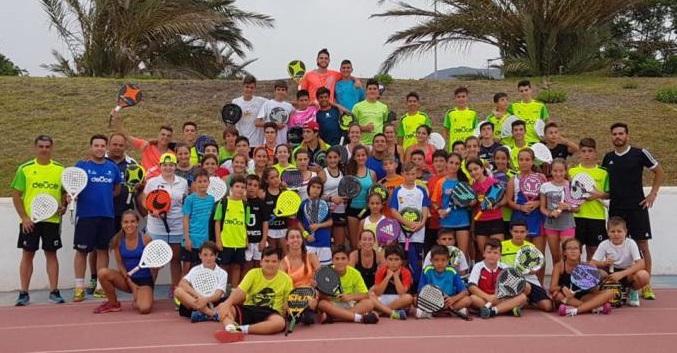 Jugadores de toda España participaron en Almuñécar en un Campus de Pádel