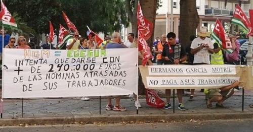 Protesta de la plantilla de EGESUR por el ERE Extintivo anunciado
