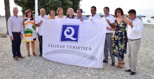 Bandera de 'Q' de calidad turística en la playa del Sotillo - Castell