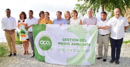 Bandera verde a la playa de La Rijana, en Gualchos-Castell de Ferro