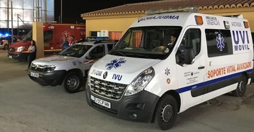 'Urgencias Sanitarias_ colabora con Protección Civil de Motril con una UVI móvil en el Ferial del Cortijo del Conde