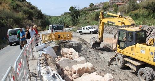 El Ayto. de Motril arregla el tramo de la carretera entre Los Tablones y La Garnatilla a la altura del Ventorro