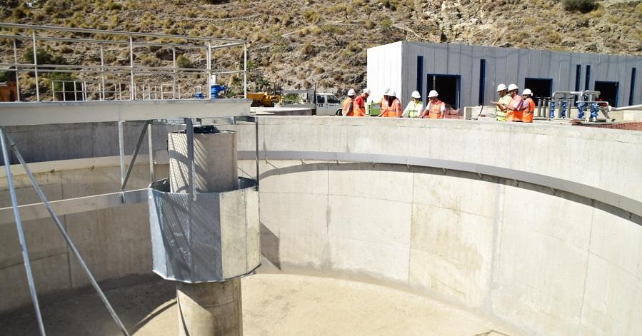 A buen ritmo las obras de construcción de la depuradora de aguas residuales de Albuñol que superan ya el 41%