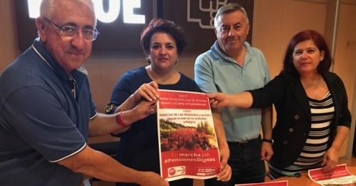 """El PSOE se suma a la campaña de UGT y CCOO para exigir al Gobierno unas pensiones """"dignas"""""""
