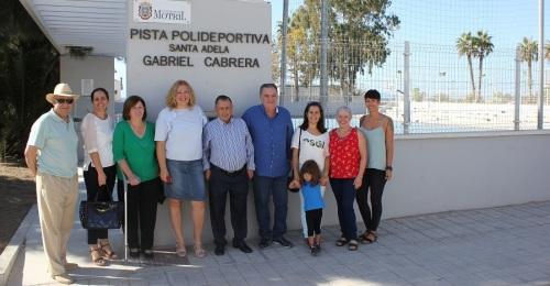 Homenaje a Gabriel Cabrera 'El Cancanica_ dando su nombre a la pista polideportiva de Santa Adela