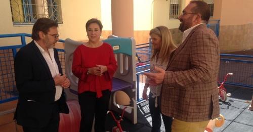 Sandra García, delegada del Gobierno de la Junta en Granada, durante la apertura del curso en la Escuela 'Portal de Belén_