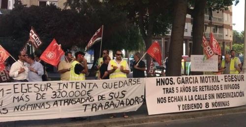 Segunda protesta de la plantilla de EGESUR por el ERE extintivo anunciado
