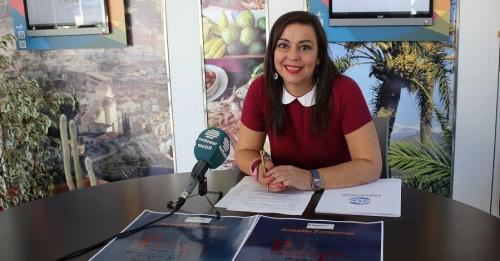 La teniente de alcalde Alicia Crespo durante la presentación de las jornadas formativas 'Plan de emprresa, garantía de éxito'