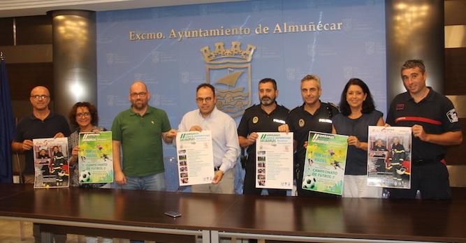 Policía Local y Bomberos de Almuñécar presentan las II Jornadas Lúdico Deportivas y Solidarias