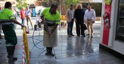 El Ayto. prueba un método novedoso para la recuperación del pavimento