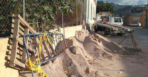 IU denuncia la falta de control que Mancomunidad y Ayto. están teniendo sobre las obras de La Paloma
