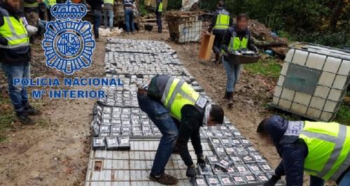La Policía Nacional se incauta de 1,2 toneladas de cocaína en la Costa