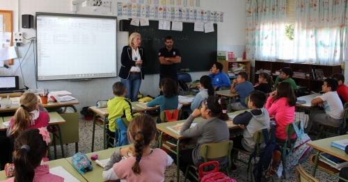 Niños de 4º de Primaria del Ave María Varadero aprenden a actuar en caso de emergencia, incendio o catástrofe