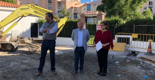Sergio García Alabarce visita las obras que Mancomunidad lleva a cabo en Carchuna-Calahonda