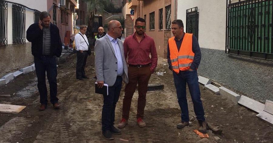 Sergio García Alabarce visita las obras que Mancomunidad lleva a cabo en Torrenueva
