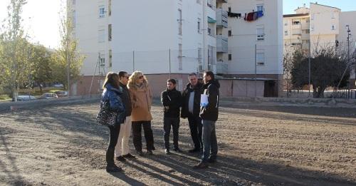 Comienzan las obras de la pista deportiva del barrio de Cuartel de Simancas