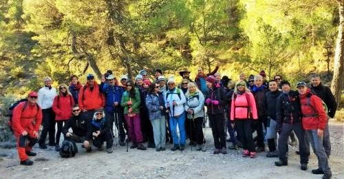 El grupo de senderismo del PMD puso fin al programa de este año con una ruta por el Parque Natural de Almijar y Tejeda