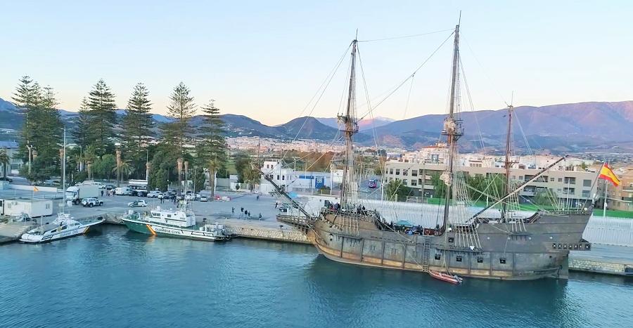 Galeón Andalucía en el Puerto de Motril