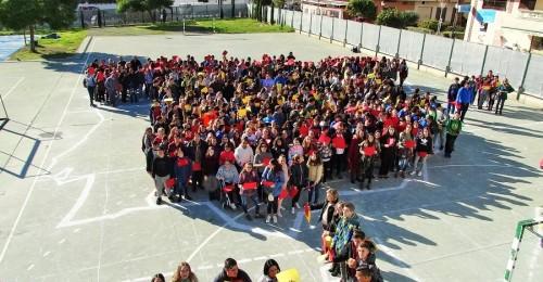 Los alumnos del IES Puerta del Mar celebran la Constitución Española del 78
