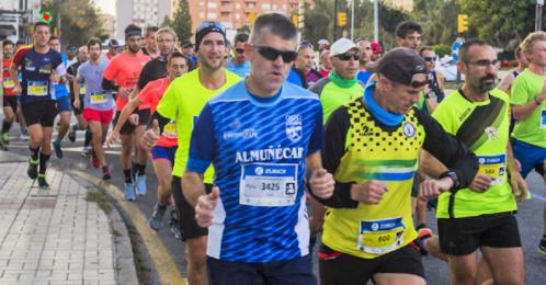 Participación del Club Atletismo Sexitano en la Maratón de Málaga