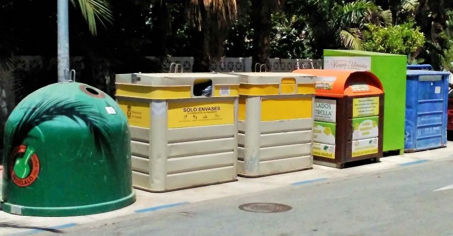 Punto de recogida de residuos en Almuñécar