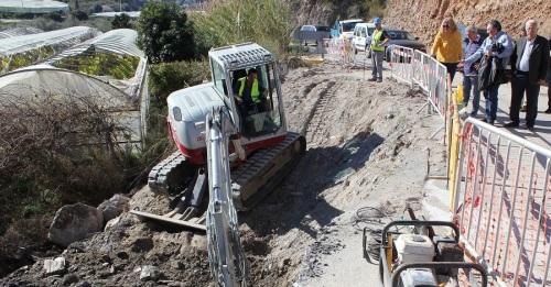 Las obras de la carretera de Los Tablones avanzan a buen ritmo