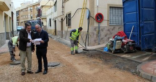 Las obras en la calle Fray Ángel Sagastume, en la zona del Barranco de la Higuera, llegan a su fase final