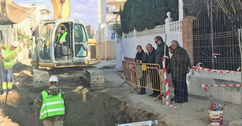 Sergio García visita las obras de Mancomunidad en Castell de Ferro