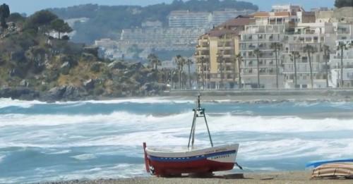 Temporal en la costa granadina