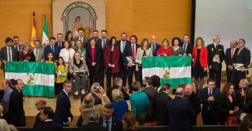 Entrega en Granada de las Banderas con motivo del Día de Andalucía