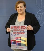 La teniente de alcalde responsable de Comercio, Susana Feixas, en la presentación de la tercera feria de stock