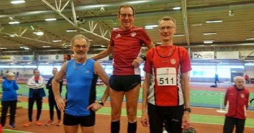 Participación deNils H. Pearsson, de 70 años y corredor del Atletismo Sexitano, en un campeonato en Scania (Suecia)