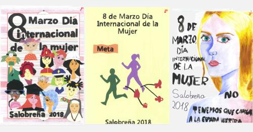 Un grupo de alumnos del IES Mediterráneo gana el IX Concurso de Carteles del 8 de marzo