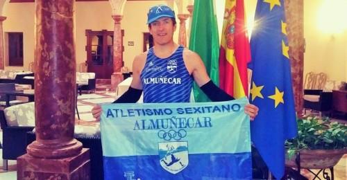 David Gato, del Club Atletismo Sexitano, en el Media Maratón de Lucena