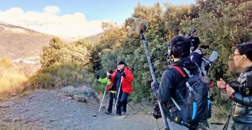 Programa de la televisión NHK de Japón sobre senderismo en la Alpujarra