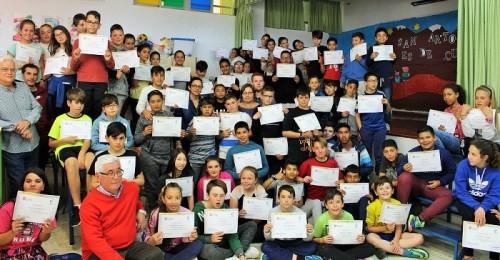 Alumnos de 5º y 6º de Primaria del Colegio San Antonio reciben el diploma de Mediadores para la Convivencia