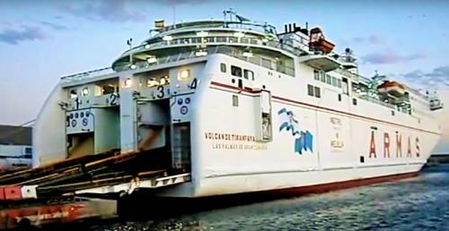 Ferry de la naviera ARMAS en el Puerto de Motril